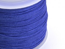 1 m of braided nylon cord, 1 mm - navy blue