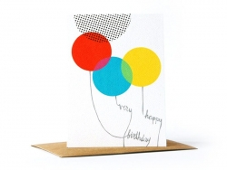 "1 carte ""very happy birthday"" + enveloppe"