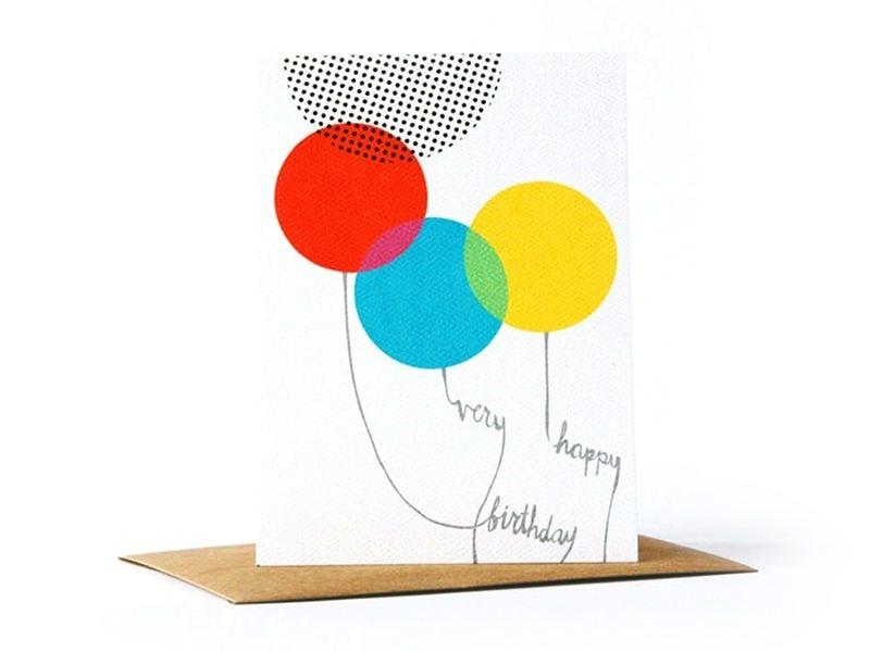 "1 card bearing the words ""Very Happy Birthday"" + envelope"