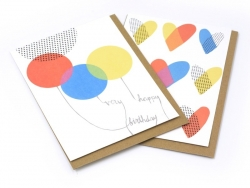 "1 card bearing the words ""Very Happy Birthday"" + envelope"