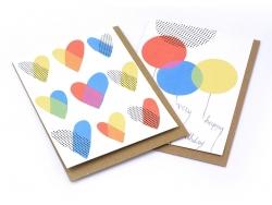 1 carte coeurs + enveloppe