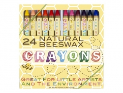 Box with 24 beeswax crayons Ooly - 1