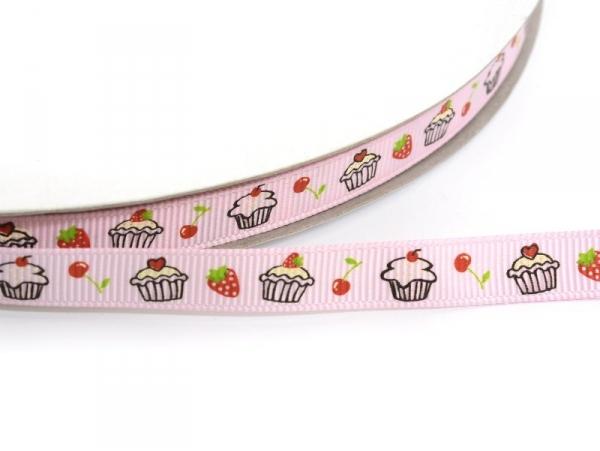 Acheter 1m ruban gros grain cupcake et fraise rose clair - 10 mm - 1,89€ en ligne sur La Petite Epicerie - 100% Loisirs créa...