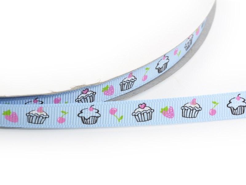 Acheter 1m ruban gros grain cupcake et fraise bleu - 10 mm - 1,89€ en ligne sur La Petite Epicerie - 100% Loisirs créatifs