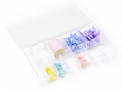 Storage box with 11 compartments - 20 cm