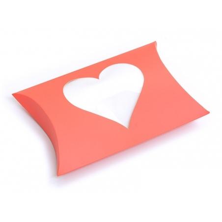 Pochette Cadeau Coeur - orange fluo Kado Design - 1