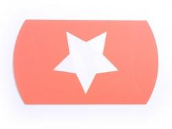 Pochette Cadeau Etoile - orange fluo