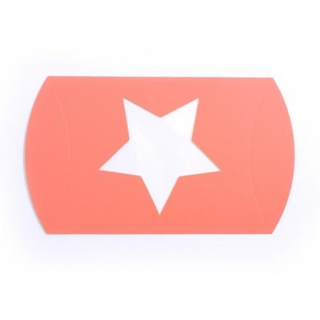 Pochette Cadeau Etoile - orange fluo Kado Design - 2