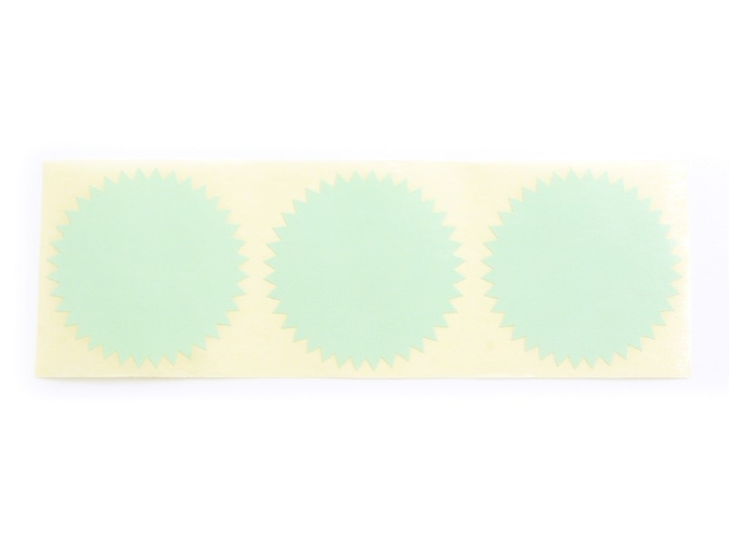 3 star-shaped stickers - sea green