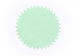3 étiquettes autocollantes Deco Star - Vert d'eau