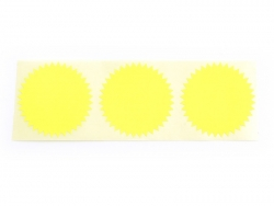 3 star-shaped stickers - neon yellow