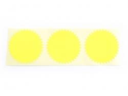 3 étiquettes autocollantes Deco Star - Jaune Fluo