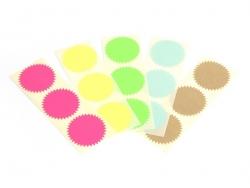 3 star-shaped stickers - neon yellow