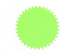 3 étiquettes autocollantes Deco Star - Vert fluo