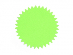 3 star-shaped stickers - neon green