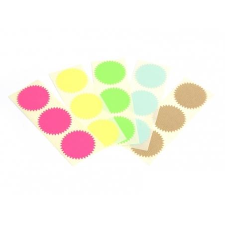 Acheter 3 étiquettes autocollantes Deco Star - Vert fluo - 0,29€ en ligne sur La Petite Epicerie - 100% Loisirs créatifs