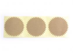 3 étiquettes autocollantes Deco Star - Kraft