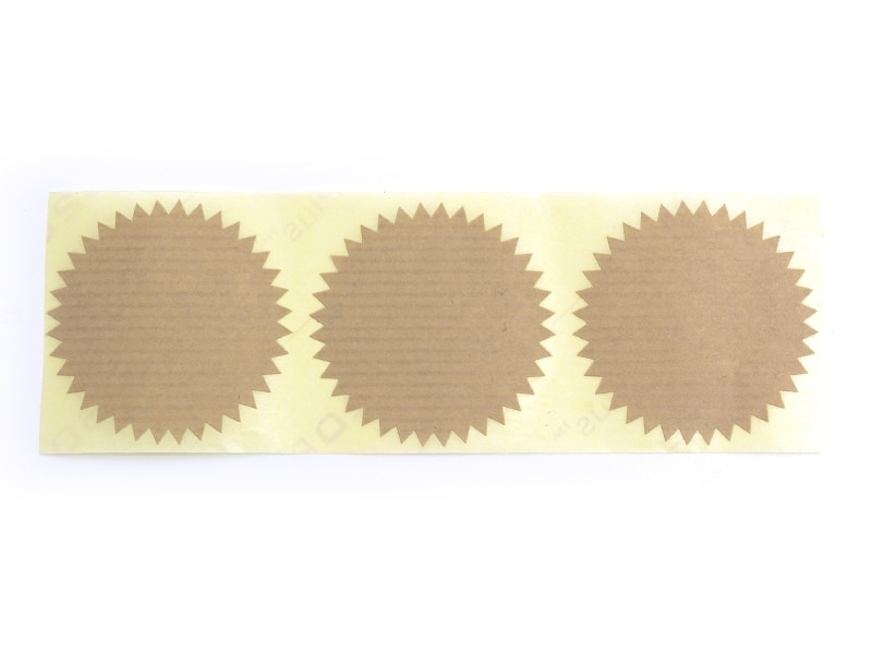 3 star-shaped stickers - kraft paper