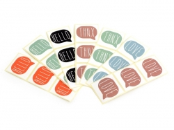 Acheter 3 étiquettes autocollantes HELLO - Rouge - 0,29€ en ligne sur La Petite Epicerie - Loisirs créatifs