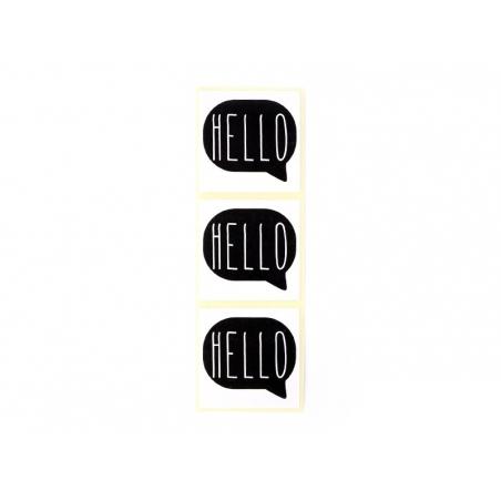 Acheter 3 étiquettes autocollantes HELLO - Noir - 0,29€ en ligne sur La Petite Epicerie - Loisirs créatifs