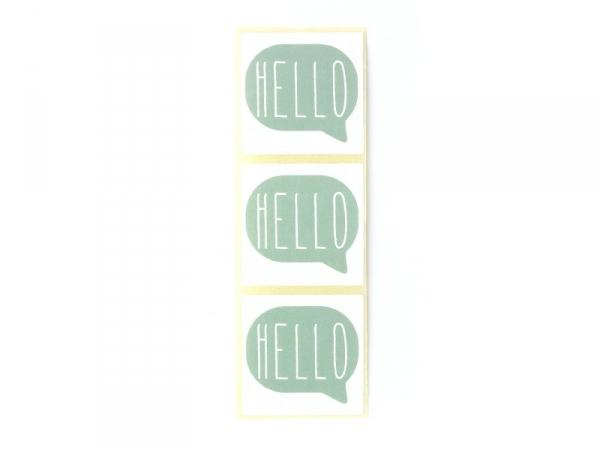 Acheter 3 étiquettes autocollantes HELLO - Vert d'eau - 0,29€ en ligne sur La Petite Epicerie - 100% Loisirs créatifs