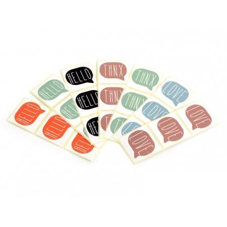 Acheter 3 étiquettes autocollantes THNX - Vert d'eau - 0,29€ en ligne sur La Petite Epicerie - 100% Loisirs créatifs