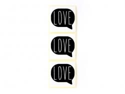 """3 Aufkleber mit der Aufschrift """"Love"""" - schwarz"""