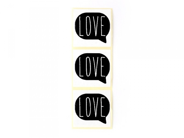 Acheter 3 étiquettes autocollantes LOVE - Noir - 0,29€ en ligne sur La Petite Epicerie - 100% Loisirs créatifs