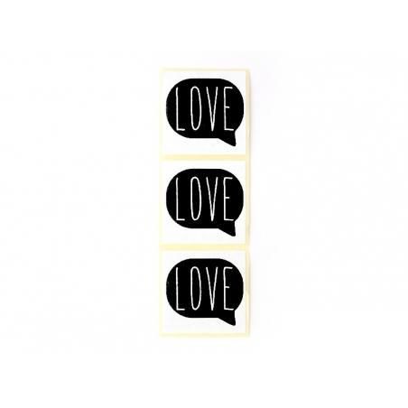 3 étiquettes autocollantes LOVE - Noir Kado Design - 1