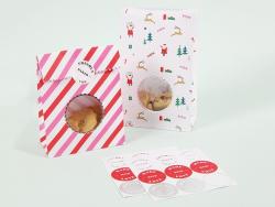 8 pochettes cadeaux à cookies - Noël et rayures