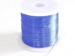 12 m de fil élastique brillant - Bleu  - 1