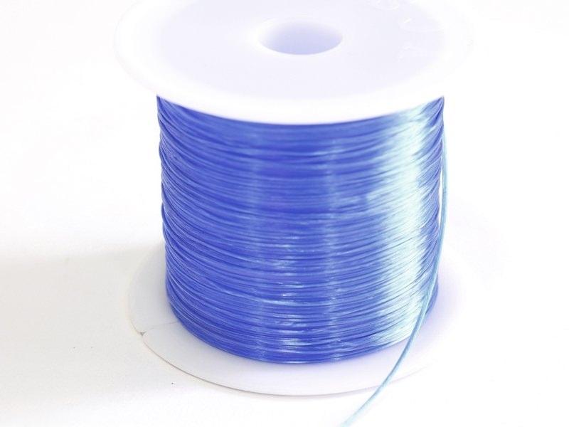 12 m of shiny elastic cord - blue