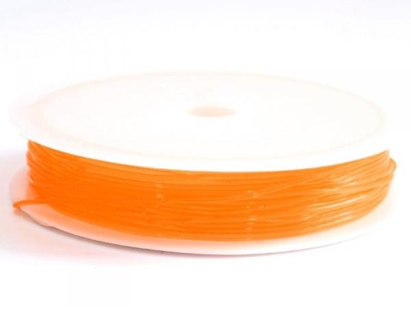 5 m of elastic cord, 0.8 mm - orange