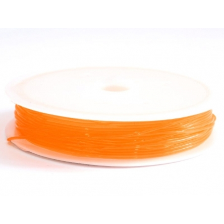 Acheter 5 m de fil élastique 0,8 mm - orange - 2,49€ en ligne sur La Petite Epicerie - 100% Loisirs créatifs