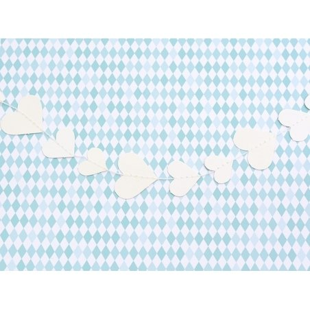Guirlande en papier à décorer - Coeurs