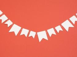 Guirlande en papier à décorer - Fanions
