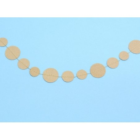 Decorative paper garland - Circles