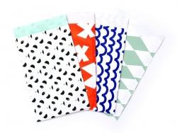 1 pochette cadeau - Vagues bleues Kado Design - 4