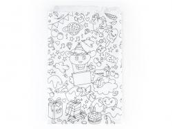 8 pochettes cadeaux - à colorier