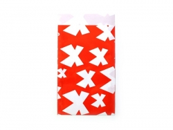 1 pochette cadeau - Rouge à noeuds blancs Kado Design - 1