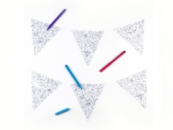 Guirlande Fanions à colorier
