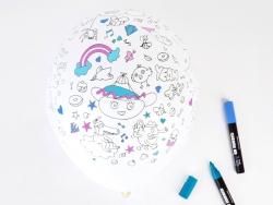 5 Luftballons zum Ausmalen - My Little Day x Omy