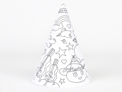 8 party hats that can be coloured - My Little Day x OMY