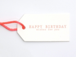 "1 Etiquette cartonnée - ""Happy birthday""  Kado Design - 1"