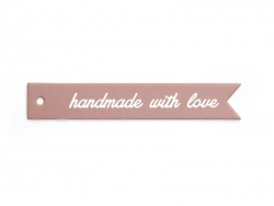 "1 étiquette fine cartonnée ""Handmade with love"""