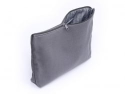 Anthracite-grey deep zipped pouch - Size L