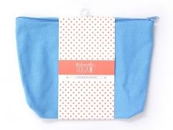 Blue deep zipped pouch - Size L
