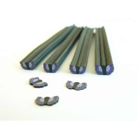 Butterfly cane - black and purple