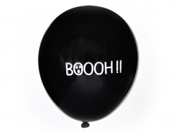 "10 balloons with the word ""Boooh!"" - My Little Day"