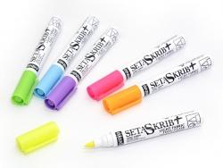 Textilstift für helle Stoffe von Pebeo - Neonblaun